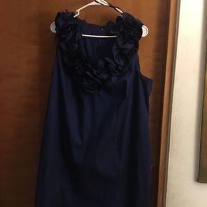 Dress formal blue stretch. One use.